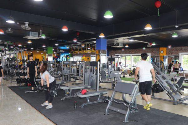 Phòng tập gym năng động, khỏe khoắn thúc đẩy tinh thần thể thao